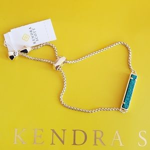 New Kendra Scott Stan Bracelet Blue & Gold